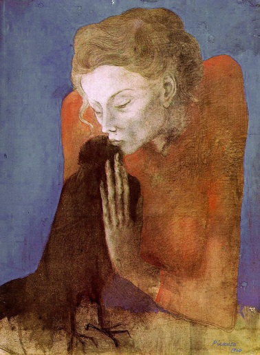 Woman with Raven, de Pablo Picasso