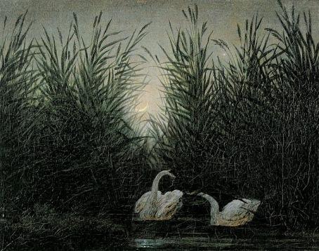 caspar-david-friedrich-cygnes-dans-les-roseau